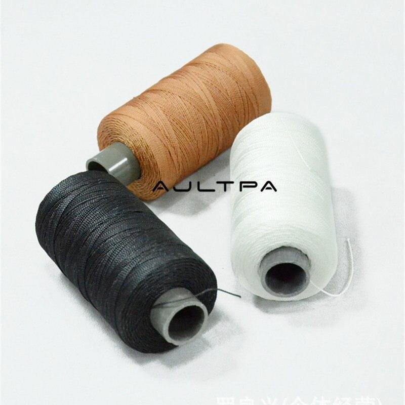 120 pièces 300M fils à coudre durables fil à coudre en cuir de Nylon borné pour chaussures de réparation artisanale