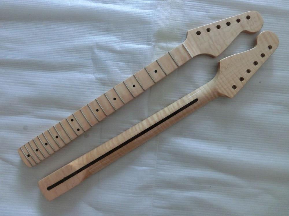 21 frets tiger flame maple wood color electric guitar neck wholesale guitar parts guitarra. Black Bedroom Furniture Sets. Home Design Ideas