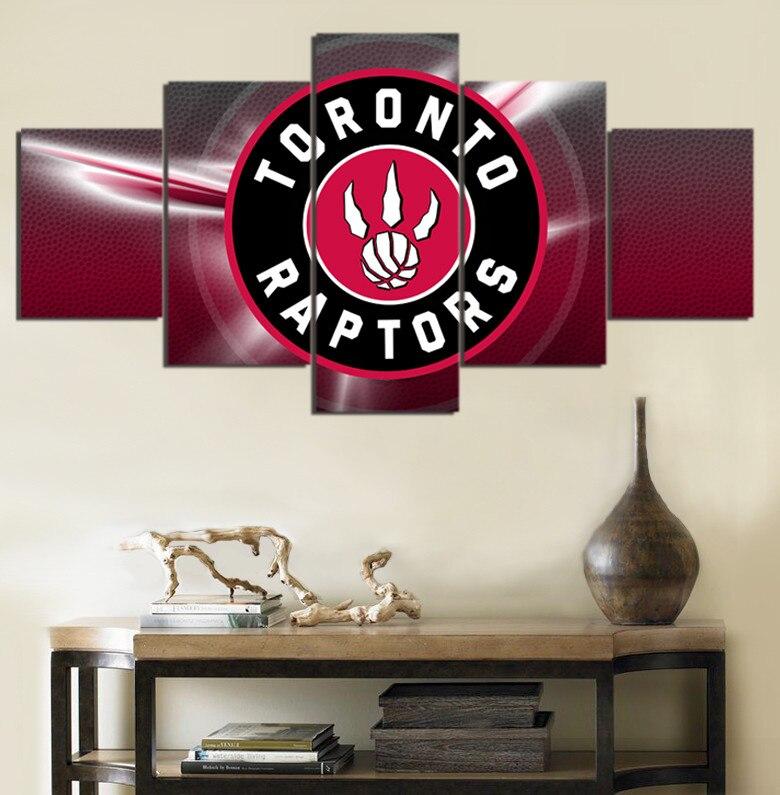 toronto raptors de la nba de baloncesto americano liga unidades de la lona pinturas