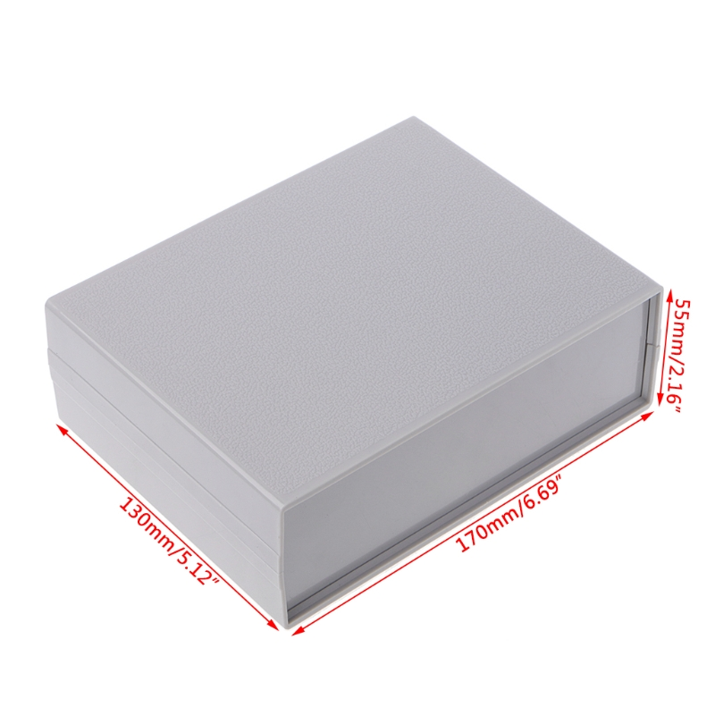 OOTDTY Plastic Electronic Project Box Enclosure Instrument Shell Case DIY 130x170x55MM