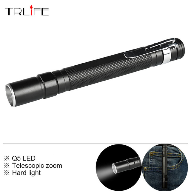 Portable Mini Q5 3000LM Telescopic Zoom LED Flashlight Torch Pocket Light Waterproof Lantern for AAA Battery Powerful portable mini penlight cree q5 2000lm led flashlight torch pocket light waterproof lantern aaa battery powerful led for hunting