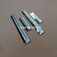Stainless Steel Auto Door Sill Scuff Plate Guard Welcome Pedal Cover Stickers Car Accessories For Suzuki S Cross 2016 2017 2018 for suzuki sx4 s cross 2013 2015 2016 2017 stainless door sill strip welcome pedal auto car styling stickers accessories 4 pcs