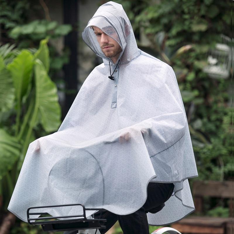 Rain Poncho Bicycle Rain Capes Women Feminino Men Portable Travel Rain Kids Raincoat Hooded Womens Raincoat Long Coat Men XX7 in Raincoats from Home Garden