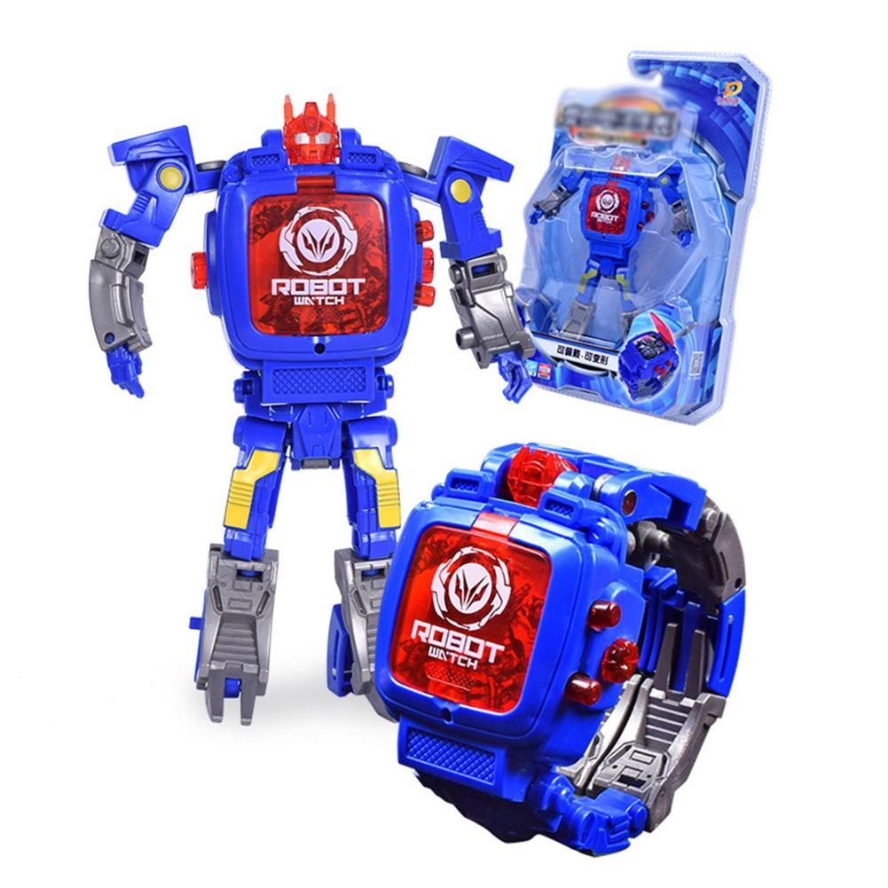 LeadingStar Creative Manual Transformation Robot Toys Children Electronic Watch Intelligence Development Deformed Robot Toy