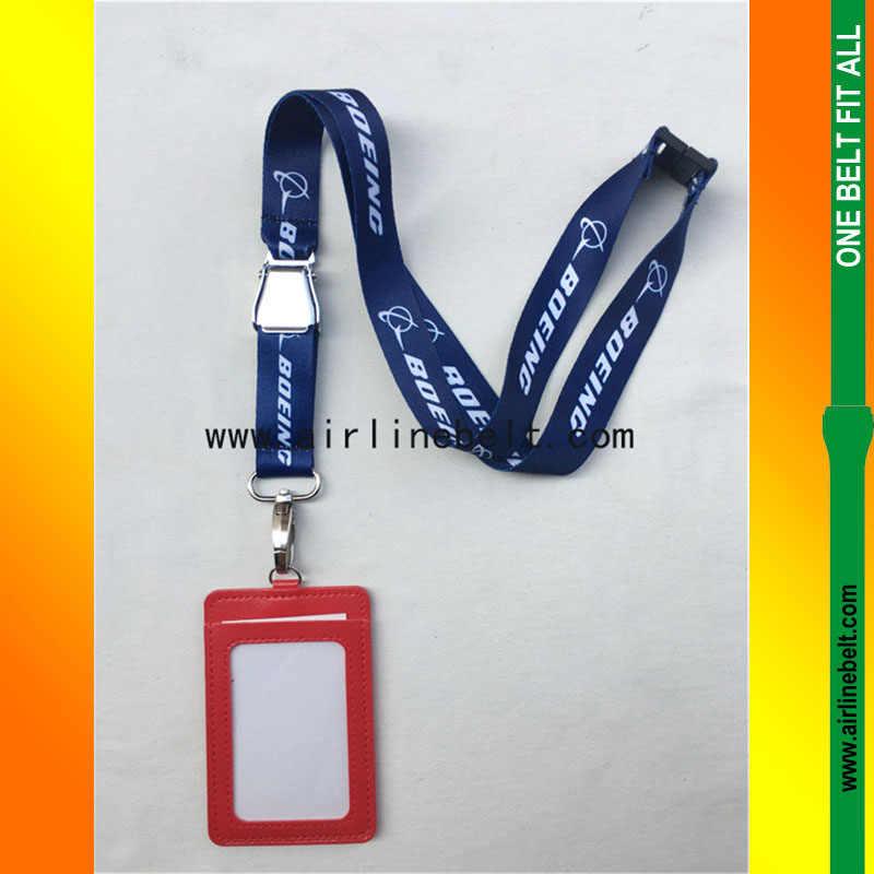 55 cm BOEING Avião fivela correia de pescoço com ID passe Cartão Crachá Titular DIY Pendure Rope Lariat Celular com câmera USB colhedor chaveiro