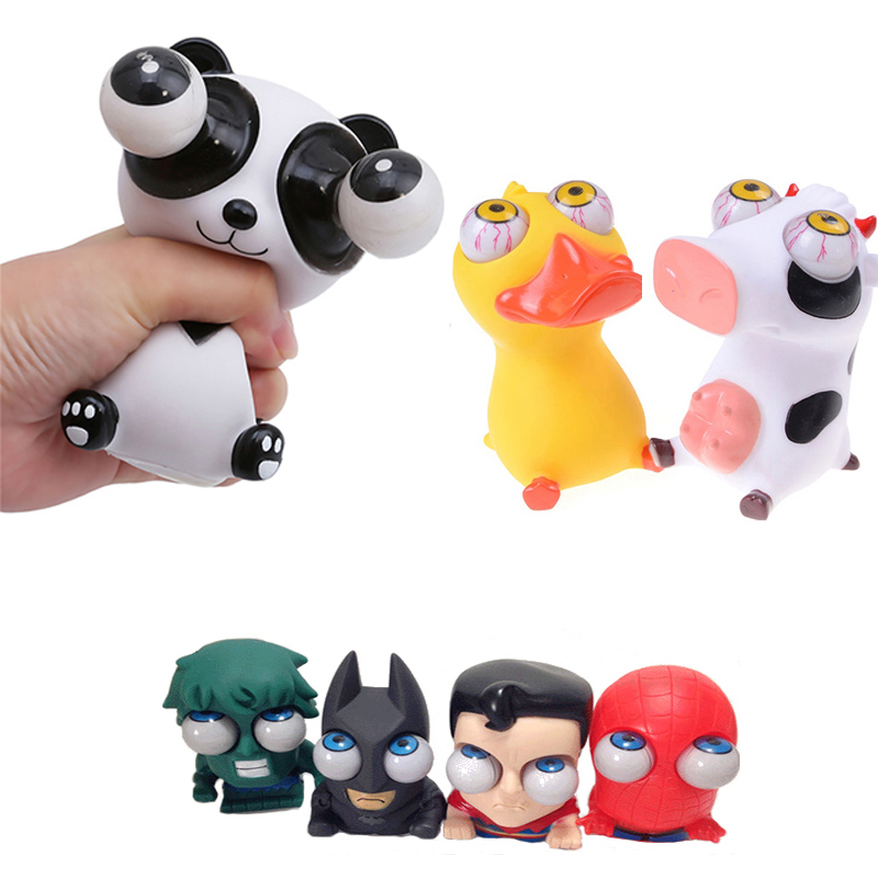 1 Piece Cartoon Animal Squeeze Antistress Toy Boom Out Eyes Doll Stress Relief Panda The Toy Avengers Figure
