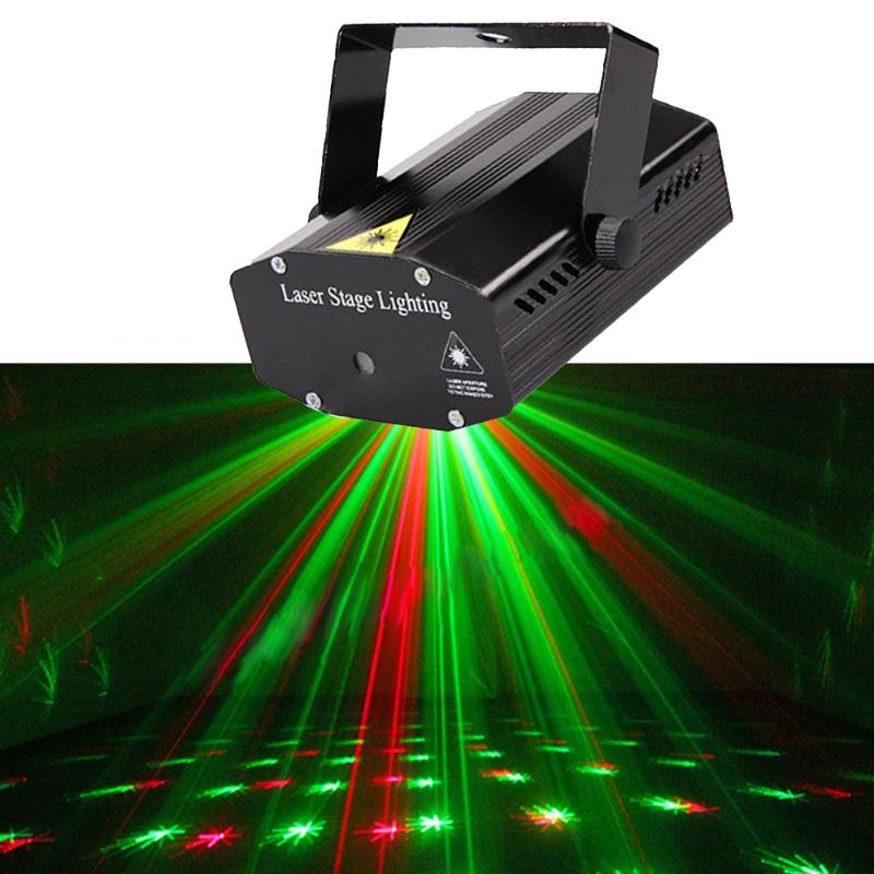 DIU# Wonderful R&G Red Green Laser Projector Stage Light Home Party Lighs DJ Disco Night Club Lighting US plug ...