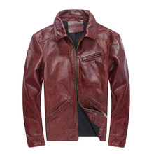 2019 Spring autumn Mens genuine leather jackets coat hot fashion biker D923