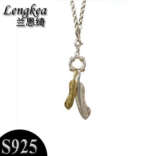 Men choker women choker 2018 Fashion necklace for men,Retro feather model,necklace silver 925 sterling silver,charms men jewelry