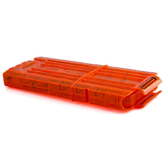 Surwish 12 Reload Clip Magazines Round Darts Replacement Plastic Magazines Toy Gun Soft Bullet Clip Orange For Nerf N-Strike