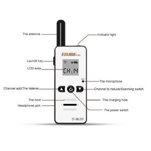 Image 2 - 2 Chiếc 400 480 Mhz Cầm Tay Trẻ Em 2 Chiều Đài Phát Thanh 128 Kênh T M2D Mini Đàm Bộ Siêu Tí Hon FRS /Gmrs Walky Talky Trẻ Em Radio