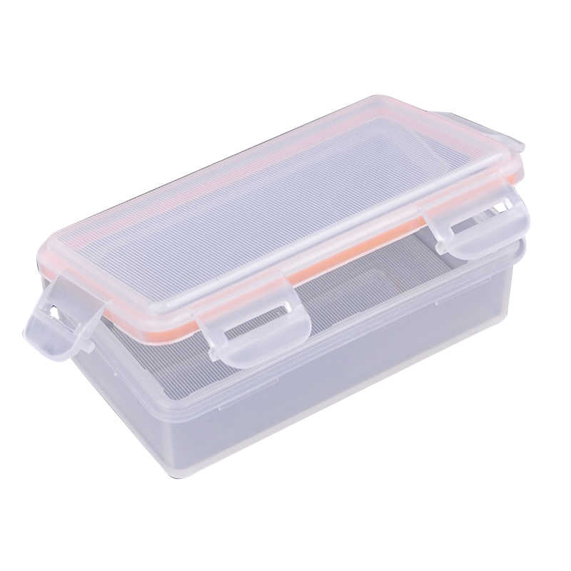 Soshine Outdoor Waterproof Battery Storage Box Battery Storage Case for 2 pcs 18650 battery Transparent