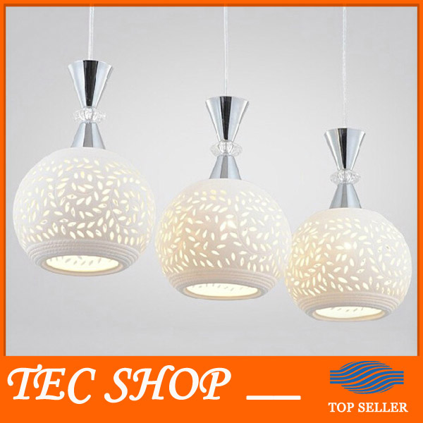 Best Price Modern Minimalist White Ceramic Pendant Lights Three LED Pendant Lamp Creative Restaurant Bar Table Lamp LED Light z best price minimalist restaurant bar chandelier single head lamp creative balcony flower pot lamp hanging garden lightings