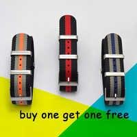 Moda nylonowy pasek do zegarka pasek w barwach nato G10 dla Omega dla IWC sport Watchstrap 007 dla Seiko kolorowa bransoletka 19mm 20mm 21mm 22mm