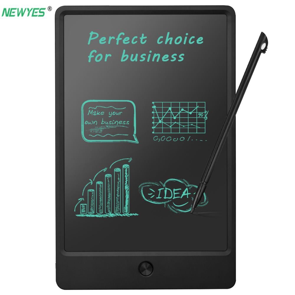 NEWYES 9 tablette graphique tablettes numériques dessin tablette LCD wiriting board Lock key one-click effaçable tableau blanc