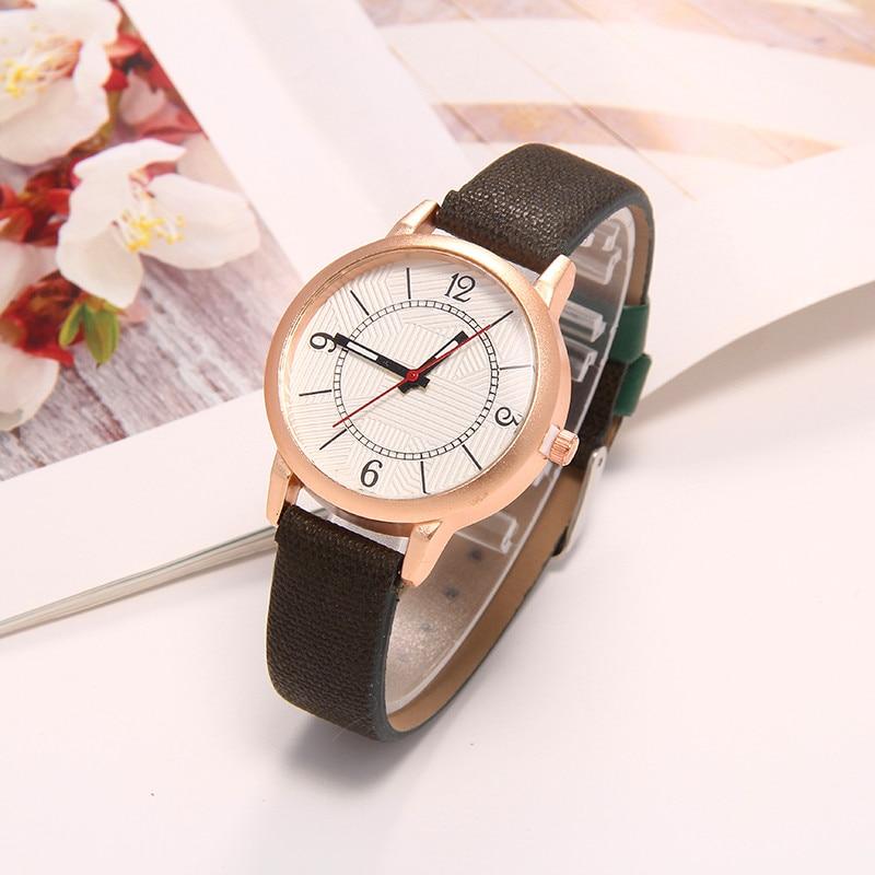 Fashion Watches Retro pointer dial Quartz Women Simple Leather Strap Men Casual Analog Elegant WristWatch Relogio Feminino Watch