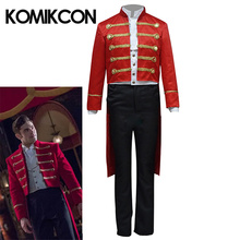 The Greatest Showman Cosplay Costume Phillip Carlyle Red Uniform Adults Men Halloween Carnival Party Stage Performance Full Sets