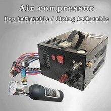 12v 30mpa 4500psi 300bar pcp compressor de ar em miniatura pcp compressor, incluindo alta pressão compressor de ar transformador