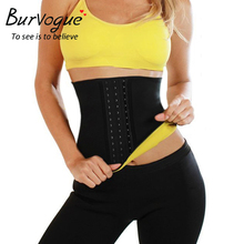 Burvogue Women Waist Trainer Belt Sweat Sauna Neoprene Body Shaper Waist Slimming Belt font b Weight