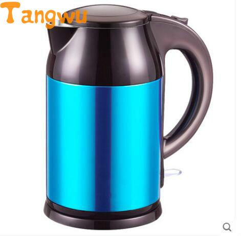 цена на Free shipping Electrothermal stainless steel double layer heat insulation Electric Kettles