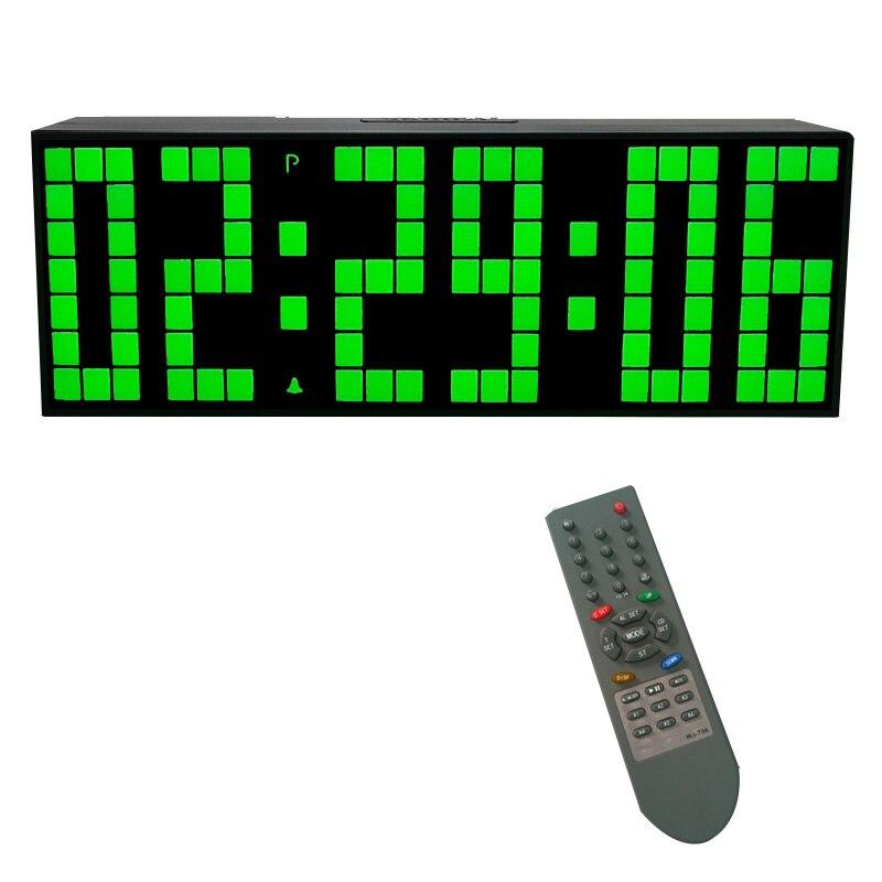 KOSDA télécommande grande alarme numérique LED horloge compte à rebours grand écran chronomètre sportif Snooze température décor à la maison-in Alarme Horloges from Maison & Animalerie    3