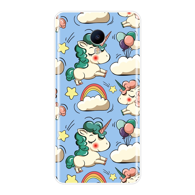 , Phone Cases For Meizu M2 M3 M5 M6 Note Cute Unicorn For Meizu M6 M6S M6T M5 M5C M5S M3 M3S M2 Silicone Case Soft Back Cover