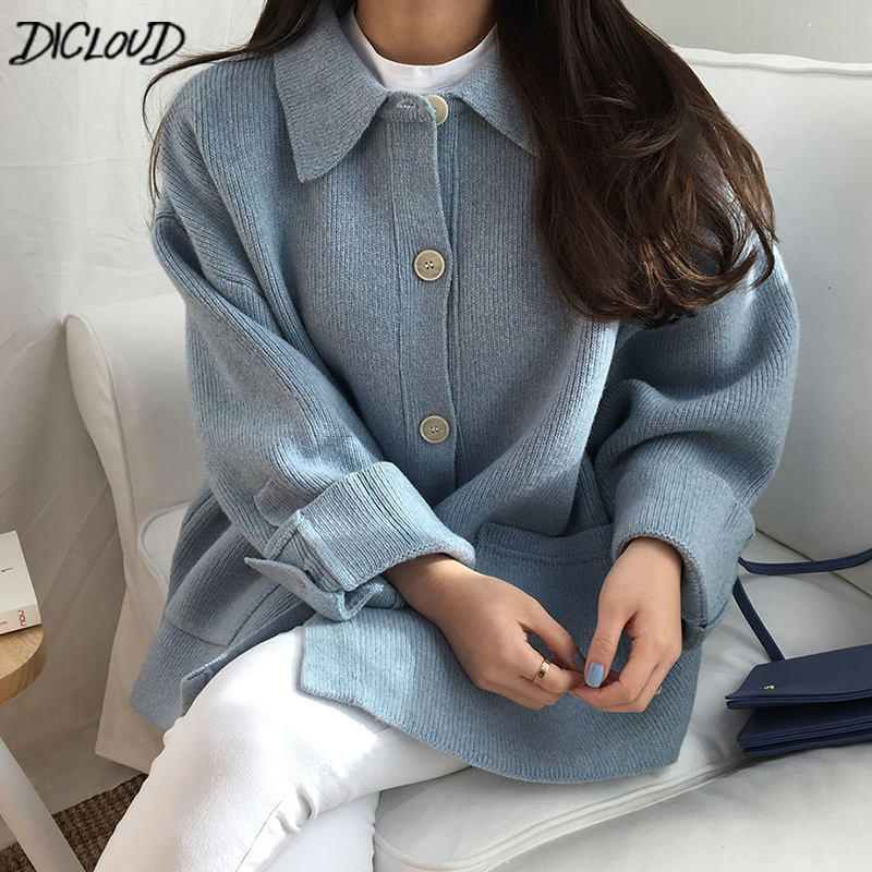DICLOUD Vintage Short Knited Sweaters Women Fashion Oversized Sweater Ladies Winter Coats Woman Harajuku Designer Women Tops New
