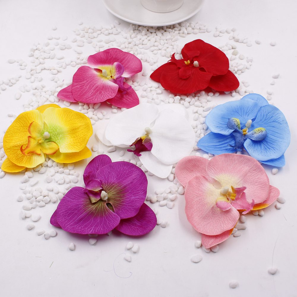10cm Big 20pcslot Silk Artificial Orchid Flower For