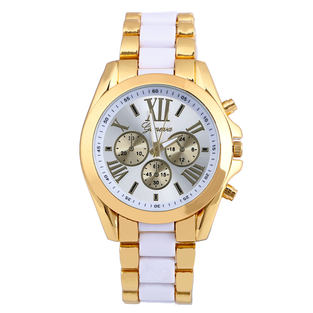 2018 Luxury Brand Geneva New Gold Stainless Steel Watches Women Fashion Watch Female Dress Wristwatch Ladies Casual Clock Montre 2016 new ladies fashion watches decorative grape no word design gold watch stainless steel women casual wrist watch fd0107