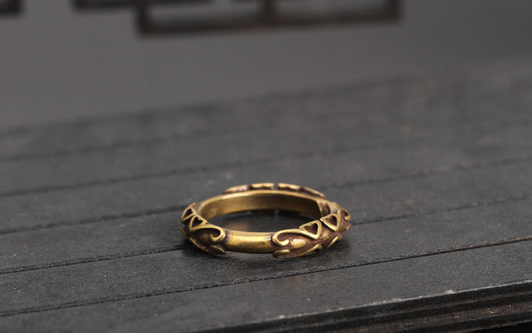 copper key rings (12)