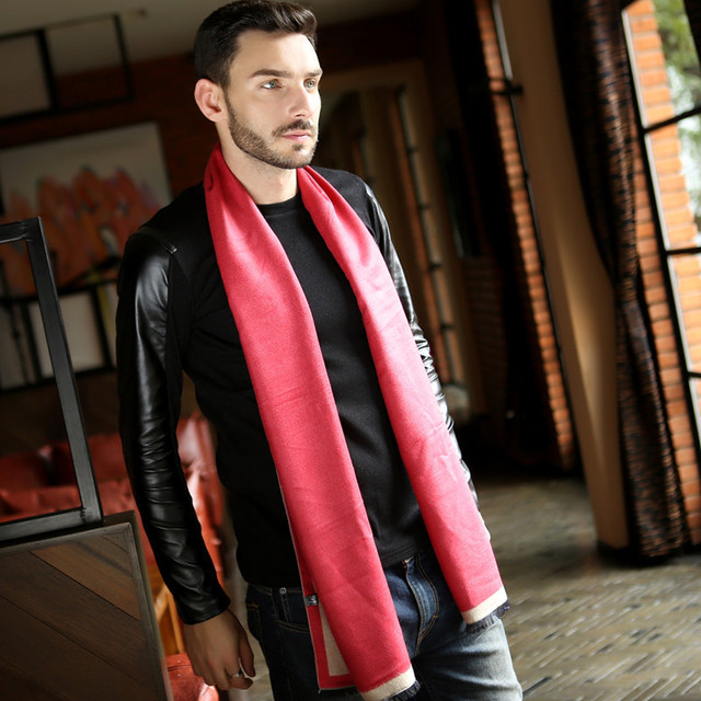 2016 New Men's Business Casual Cotton Scarves Cashmere Scarves Warm Winter Male Couple Influx Of American Wild Scarf