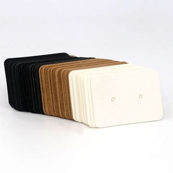 2.5*3.5CM 100PCS Colorful Rectangle Blank Kraft Paper Jewelry Earrings Cards Label Tags Hang Favor DIY  Accessories Wholesale