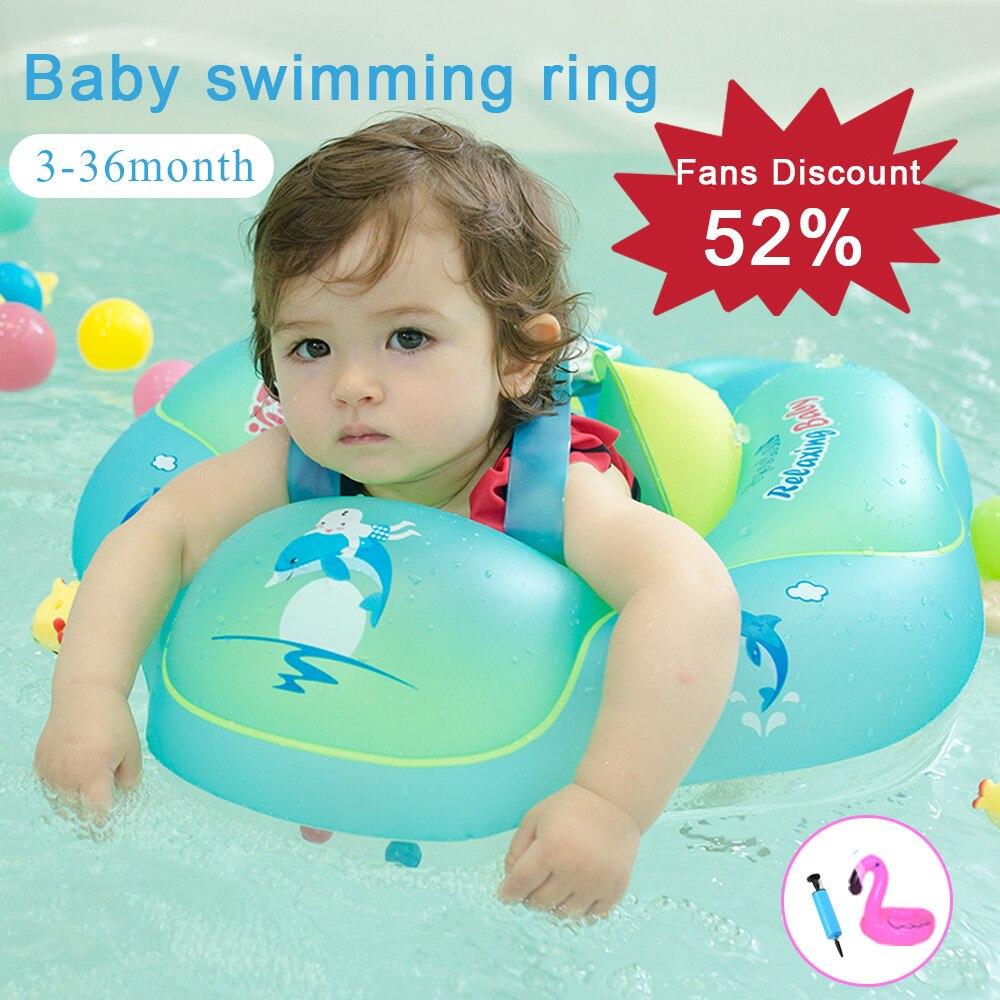 Anneau de natation gonflable en PVC de 0-6 ans cercle de bain pour bébé anneau de bain pour enfants