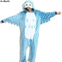 Onesie Kigurumi Cosplay Costumes Animal Owl Unisex Adult Unicorn Women Pajamas Christmas Cartoon Animal Sleepwear Winter