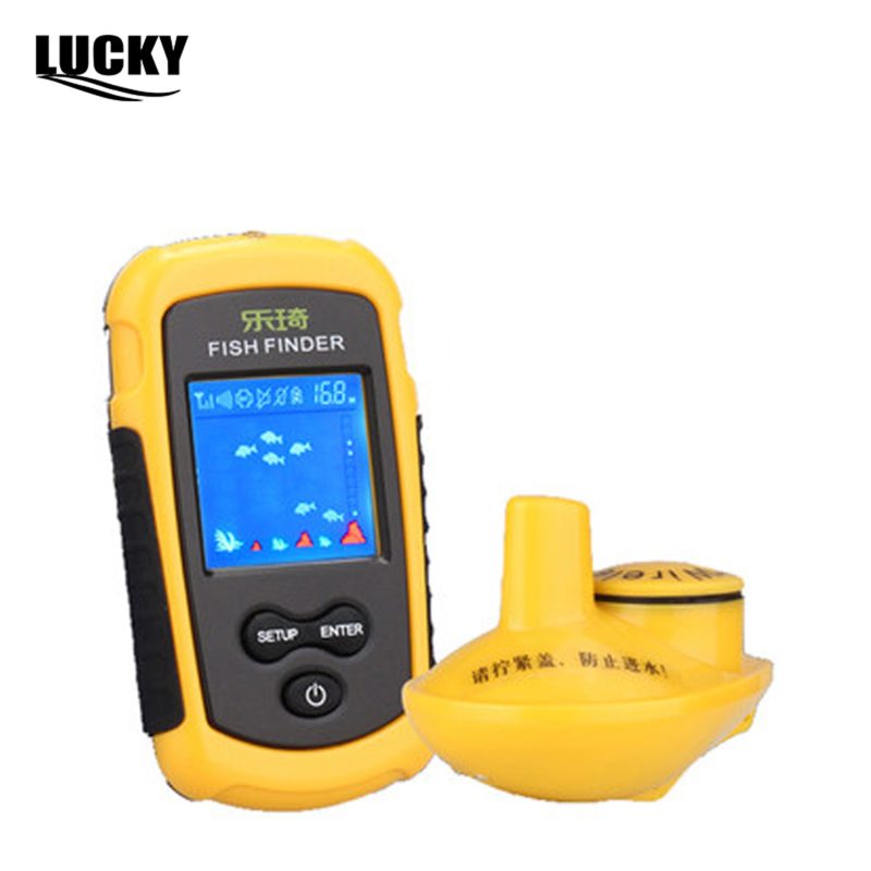 Lucky FF-1108 Portable Wireless Fish Finder 40m Depth Sonar Sounder Alarm Transducer Fishfinder with Colorful Display(China (Mainland))