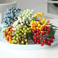 1Pcs Artificial Flowers Plant Berry Fake Plant Berries For Christmas Wedding Decoration Artificial Berries Bouquet For Garden
