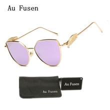 Diseñador de moda marca Mujeres Del Ojo de Gato gafas de Sol Marea Ala del Ángel Recubrimiento UV400 gafas Gafas de Sol Gafas De Sol Feminino mujer