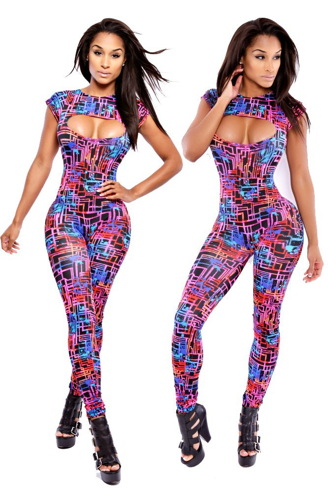 Neon-Graphic-Maze-Print-Jumpsuit-LC6667-1