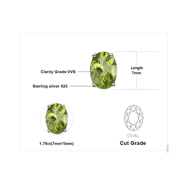 Green Peridot Birthstone Stud Earrings