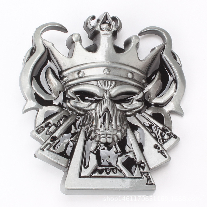 Poker King Personality Big Head Belt Buckle