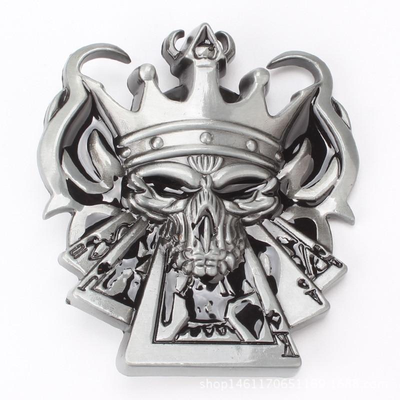 Poker King Personality Big Head Belt Buckle