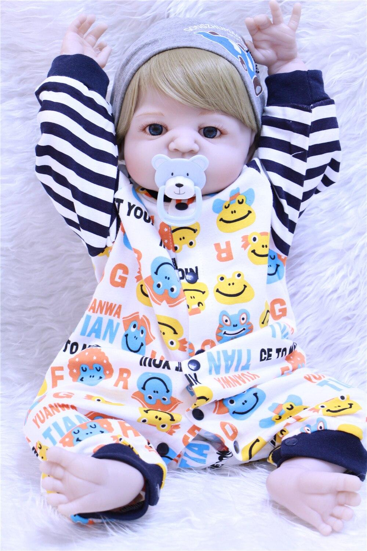 Bebe Reborn Full Silicone Body Reborn Baby Doll Toy Lifelike 55cm Newborn Boy Babies Dolls For Kids Fashion Birthday Present Toy