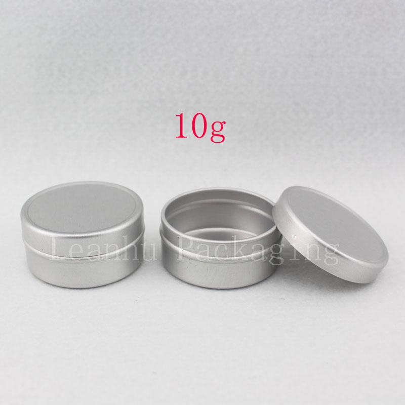 10g round empty cream aluminum jar lids for personal care packaging aluminum box in cosmetics cream