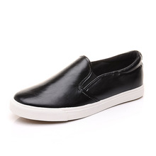 Spring leather shoes a lazy person flat PU leather men loafers han edition men's shoes slip-on loafers trend