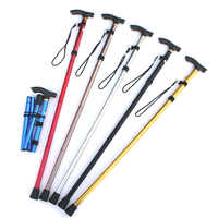 Aluminium Alloy Folding Cane for Elderly Portable Hand Walking Stick Non-slip 4 Section Adjustable Canes for Walking Hiking
