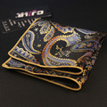 New Striped Pocket Square Gentlemen Style Floral & Paisley Handkerchief for Men Suit Pocket Wedding Square Hanky Chest Towel
