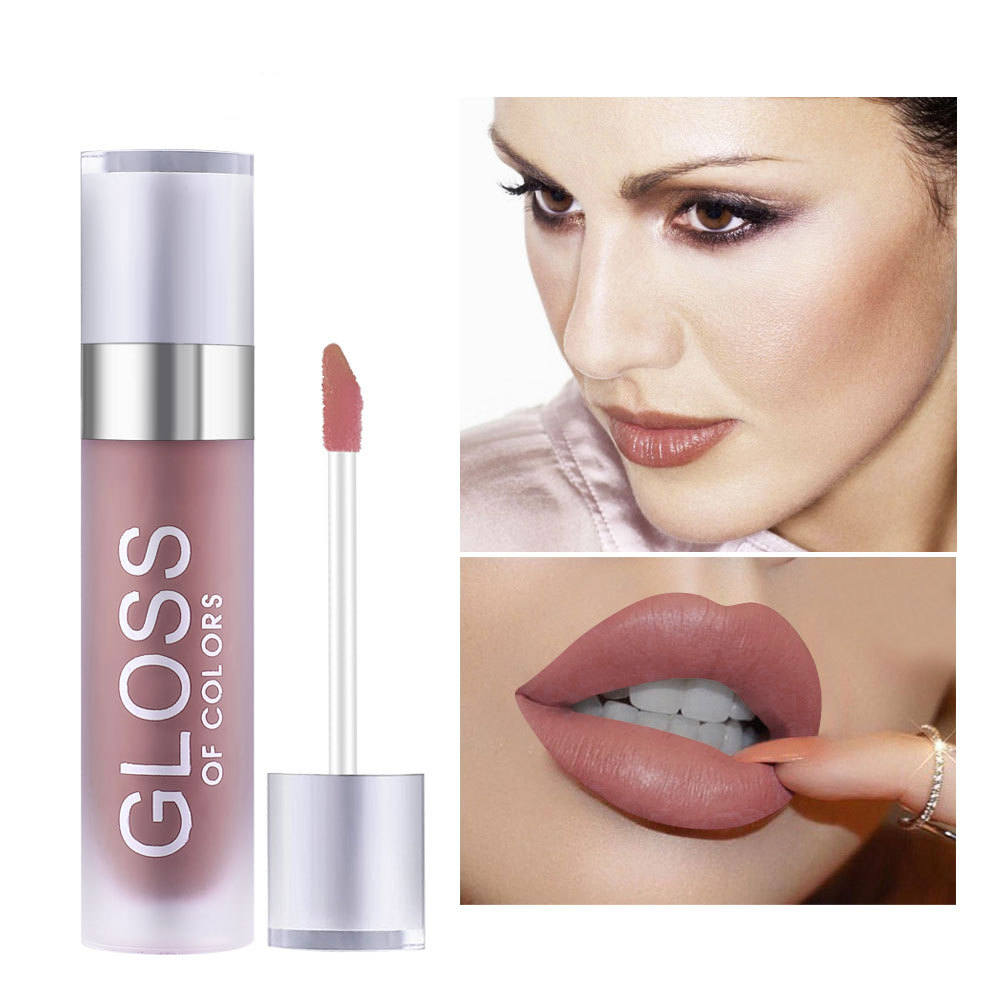15 Colors Matte Red Nude Gold Pink Color Lip Batom Lipgloss Long Lasting Waterproof Makeup Liquid Lipstick Lip Tint Liquido in Lip Gloss from Beauty Health