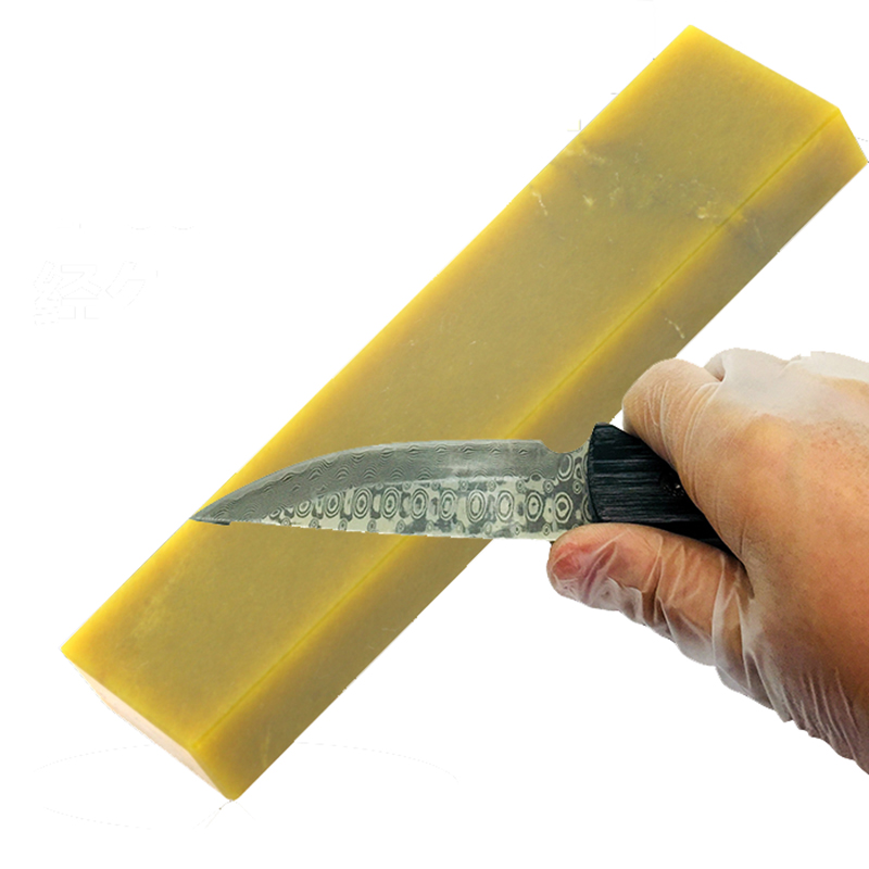 Western Chef knife Blade Mirror polishing sharpener Grindstone whetStone 12000 Grit Yellow Pulpstone 210 50 20mm