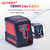 OUTEST Laser Level meter red/green beam 2 lines Auto leveling Cross laser Leveler laser Vertical Horizontal meter T01 T02