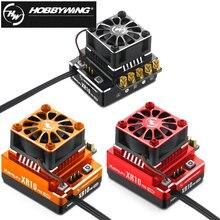 Rc esc, hobbywing xerun xr10 pro 160a sensored brushless controlador de velocidade para rc 1/10 buggy racing drift carro